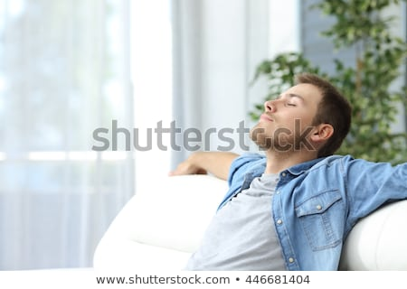 Man Breathing Fresh Air At Home Stock photo © AndreyPopov