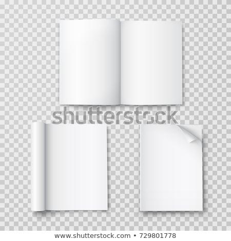 Nyitott könyv szürke átlátszó árnyék könyvek bemutató Stock fotó © romvo