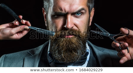 Stylish bearded barber hipster Stock photo © jossdiim