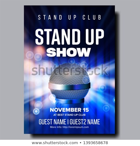 Colorful Poster Of Best Stand Up Night Show Vector Stock photo © pikepicture