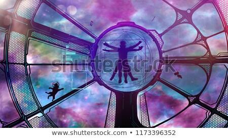 Astronaut kat avontuur afbeelding ruimteschip Stockfoto © ConceptCafe