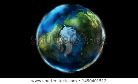 Dag half aarde ruimte tonen noorden Stockfoto © ConceptCafe