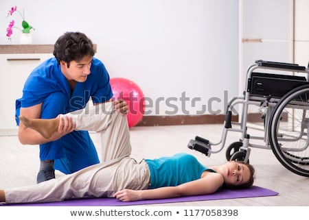Woman recovering after traffic accident Stock photo © Elnur
