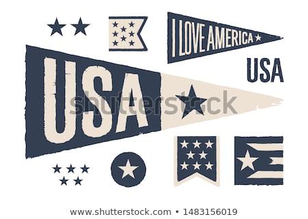 Ingesteld symbolen USA vintage retro grafische Stockfoto © FoxysGraphic