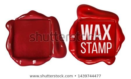 Retro praça vermelho cera carimbo cópia espaço Foto stock © pikepicture