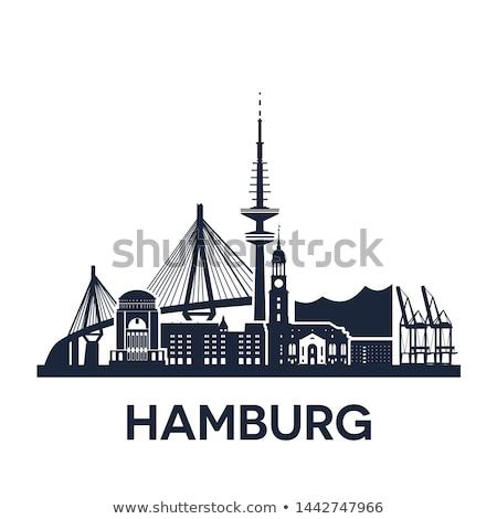 Hamburg Niemcy wersja solidny kolor Zdjęcia stock © unweit