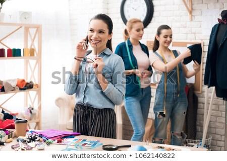 Stok fotoğraf: Moda · tasarımcı · çağrı · stüdyo · insanlar