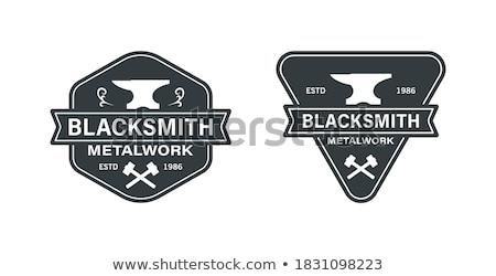 Vintage Metallurgy emblems Stock photo © netkov1