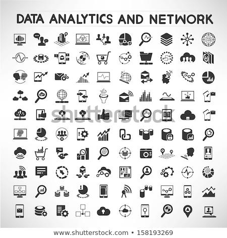 цифровой аналитика данные иконки изолированный изометрический Сток-фото © robuart