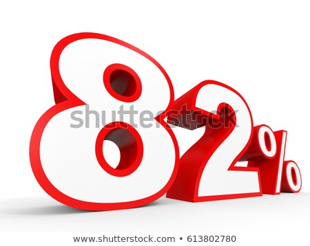 eighty two percent on white background isolated 3d illustration stock photo © iserg