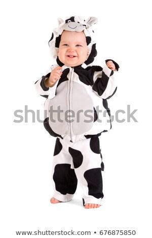 動物 牛 セット 少女 スキンケア ストックフォト © toyotoyo