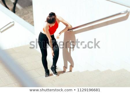 enkel · pijn · vrouwelijke · runner · pijnlijk - stockfoto © andreypopov