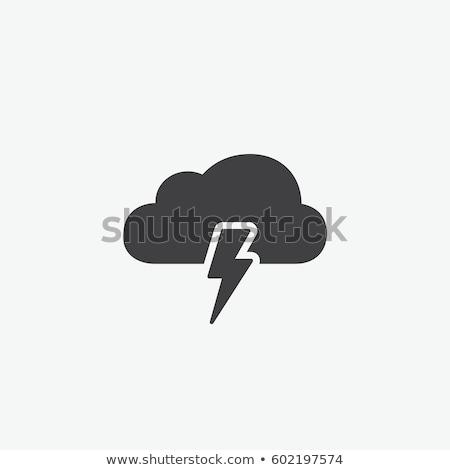 Onweersbui icon schaduw reflectie ontwerp teken Stockfoto © angelp