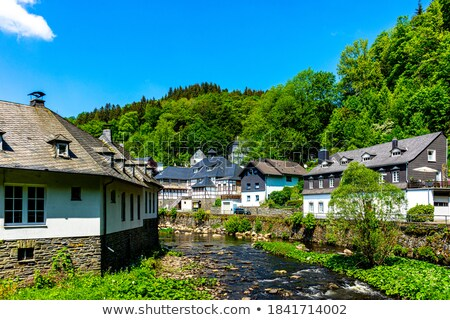 Stockfoto: Heuvel · Duitsland · stad · top · boom