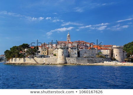 Town of Korcula view from church tower stock photo © xbrchx