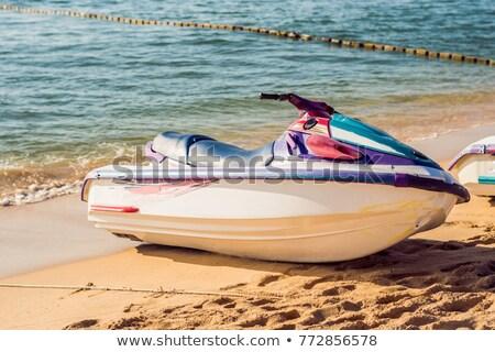 jetski on the beach in phu quoc vietnam stock photo © galitskaya