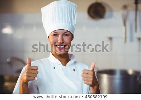 Kadın şef mutfak otel Stok fotoğraf © wavebreak_media