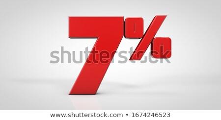 3D · piros · ötven · hét · százalék · fehér - stock fotó © iserg