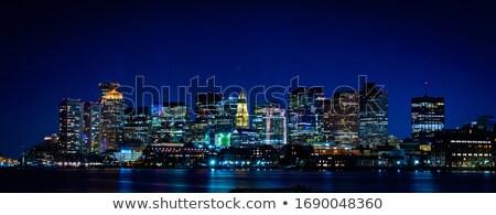 Boston Downtont night Panorama Stock photo © vichie81