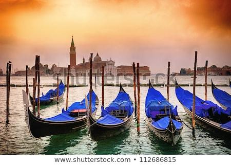 gondolas moored by saint mark square venice italy europe stock photo © asturianu