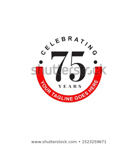 anniversary design 75th years template celebration sign vector stock photo © andrei_
