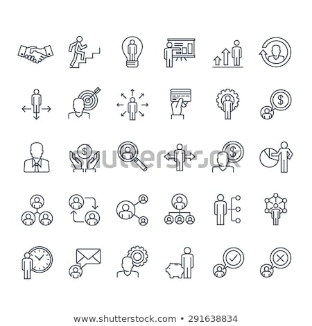 planning and organization thin line icons set stock photo © decorwithme