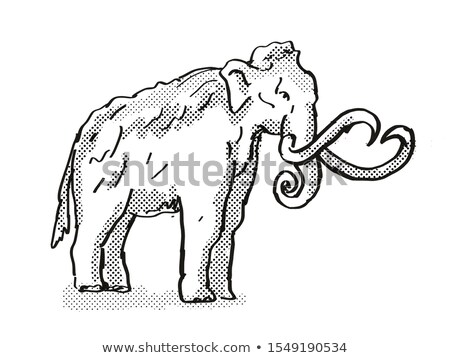 Uitgestorven noorden amerikaanse wildlife cartoon tekening Stockfoto © patrimonio