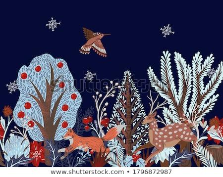 Tradycyjny Jeleń ozdoba czerwony Zdjęcia stock © SwillSkill