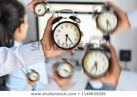 Uitgeput werken tijd druk man kantoor Stockfoto © AndreyPopov