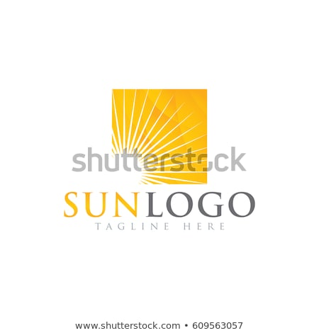 Stockfoto: Zon · vector · logo · sjabloon · ingesteld · communie