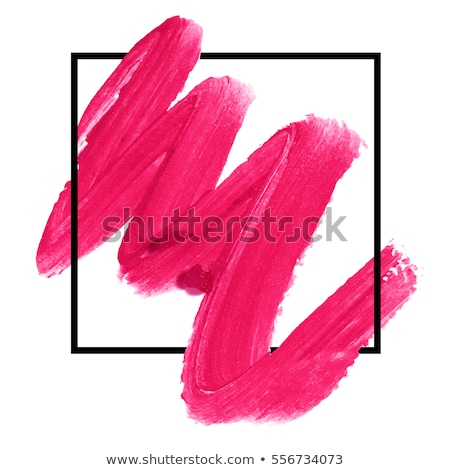 Stock photo: Lipstick smudge texture, art of make-up