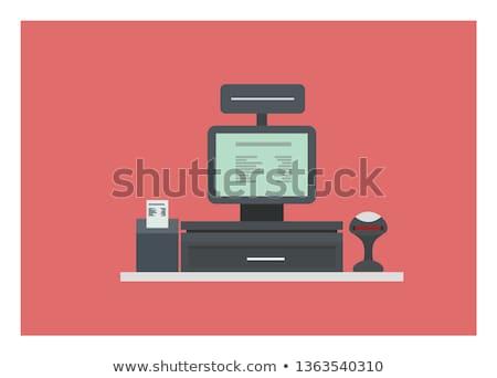 кассир борьбе контроля компьютер вектора магазин Сток-фото © robuart