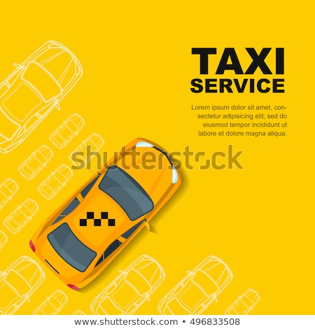 Taxi Car Online Icon Vector Illustration Stock photo © pikepicture
