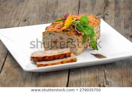 Chicken tarragon terrine Stock photo © Hofmeester