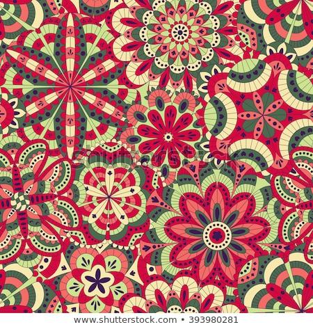デザイン 多くの パターン 花 壁 背景 ストックフォト © bluering