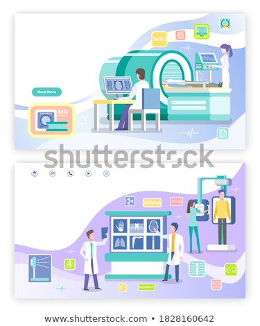 Radiology and Magnetic Resonance Imaging Webpage Stock photo © robuart