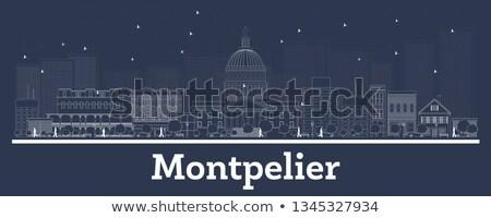Skicc Vermont városkép kék épületek copy space Stock fotó © ShustrikS