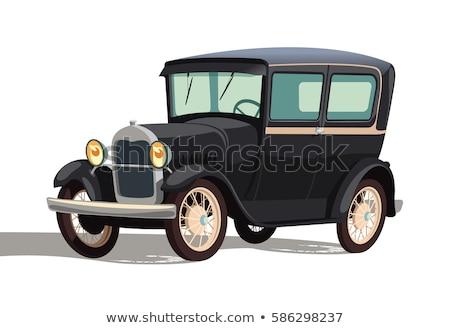 Geen motor oude auto gedeeltelijk criminaliteit lege Stockfoto © bobkeenan