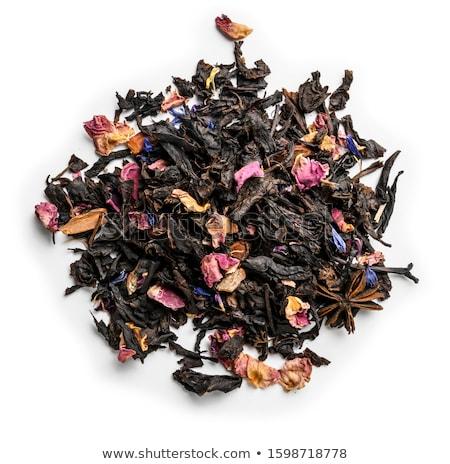 Zöld tea természetes aromás csésze felső kilátás Stock fotó © butenkow