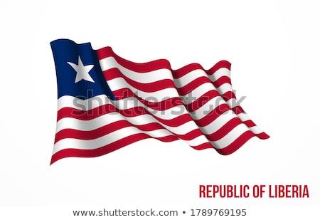 Liberia flag, vector illustration on a white background. Stock photo © butenkow