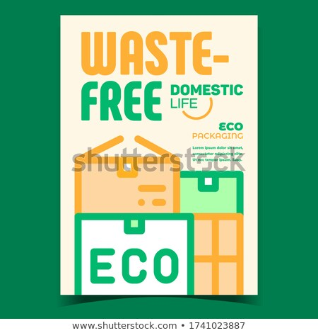 Waste-free Package Promotional Flyer Poster Vector Stock photo © pikepicture