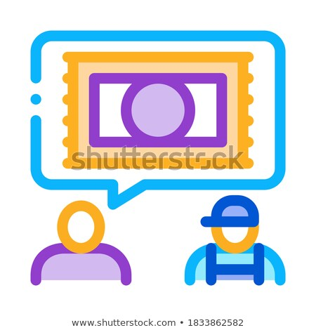 Aanvragen tapijt schoonmaken icon vector schets Stockfoto © pikepicture