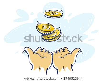 человека рук 10 монетами деньги валюта Сток-фото © LoopAll