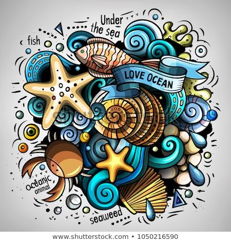 Cartoon wektora bazgroły podwodne świat funny Zdjęcia stock © balabolka