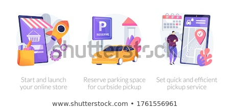Loja on-line serviço abstrato vetor ilustrações conjunto Foto stock © RAStudio