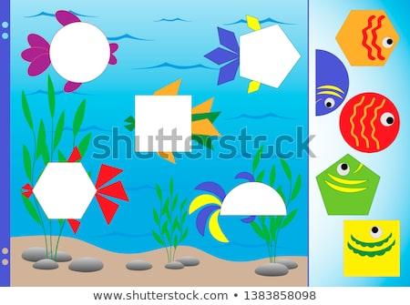 Stock photo: Fish puzzle