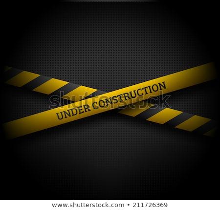 Construção manutenção estrada trabalhar abstrato laranja Foto stock © dacasdo