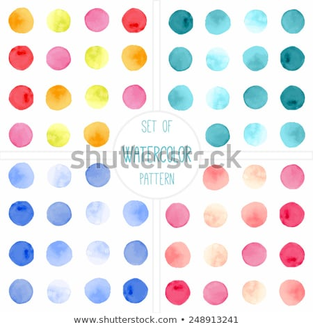 blue and red polka dot pattern frame  Stock photo © adrian_n