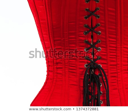red corset female Stock photo © RuslanOmega