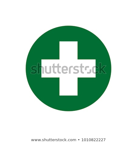 Plus symbol with AIDS icon Stock photo © cienpies